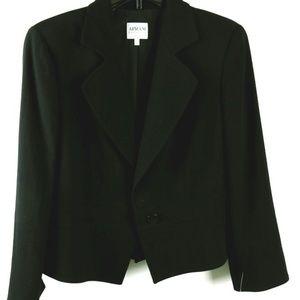 Wool Blend Classic Black Armani Blazer